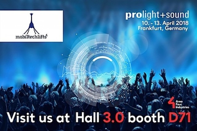 Mobiltechlifts a Prolight+Sound 2018