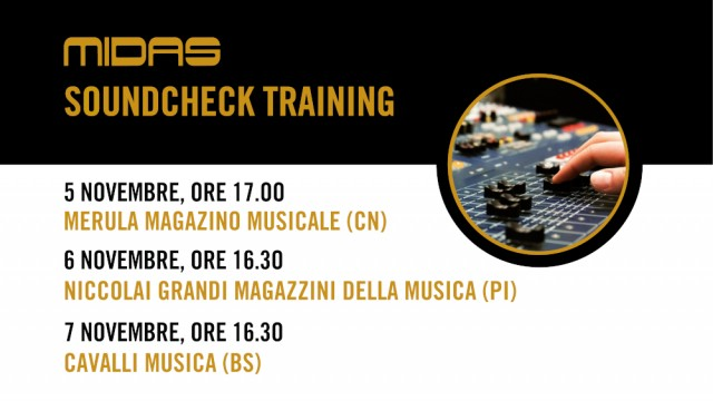 Nuovi appuntamenti con Midas Soundcheck Training