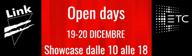 Open Days da Link ed ETC a dicembre