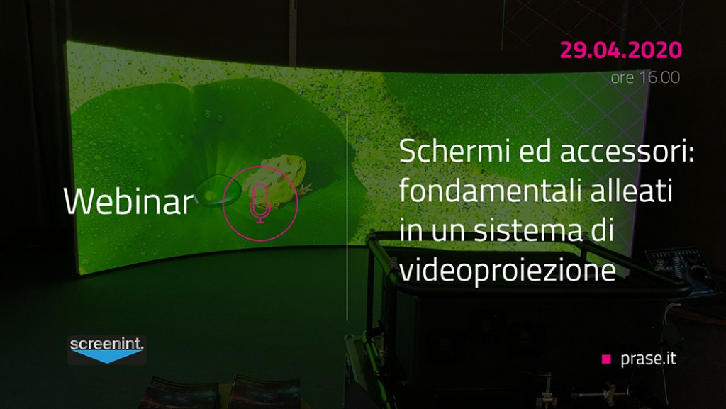 Nuovo webinar in partnership con ScreenInt