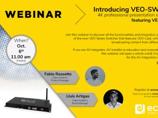 Webinar sull'Ecler VIDEO SYSTEMS